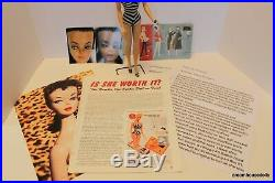 #1 BARBIE DOLL, BLACK PONYTAIL DOLL With CERTIFICATE OF AUTHENTICITY