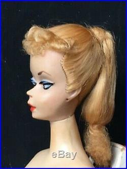 # 1 One Ponytail vintage Barbie 1959 w box Orig. Top Knot Orig face paint