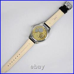 1913 OMEGA Antique & Vintage Back Skeleton Manual winding Men's Wrist Watch