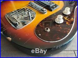 1960's Guyatone Japan LG-127T Vintage Offset Electric Guitar (Sunburst)