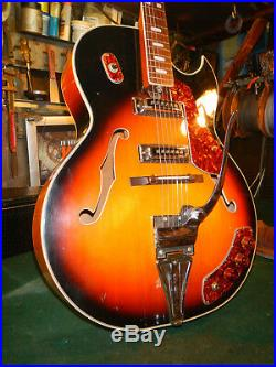 1960's Vintage Kawai Electric Guitar Jazz Jumbo Japan Single cut