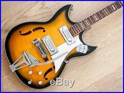 1960s Teisco Imperial Vintage Hollowbody Electric Guitar Sunburst Japan