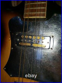 1960s Vintage Audition electric guitar gold foil pickups Japan