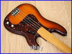 1970s Fernandes Fretless Vintage Electric P Bass FPB-70 VBS-FL Stone Logo, Japan