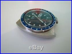 1972 Seiko 6139-6002 Pepsi Pogue Automatic Chronograph Day Date Head Only