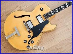 1974 Greco N-60 Vintage Hollowbody Archtop Guitar Blonde ES-175 Japan Fujigen