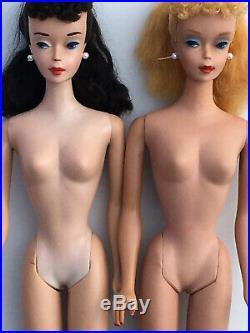 # 3 PONYTAIL BARBIE brunette vintage! 1960