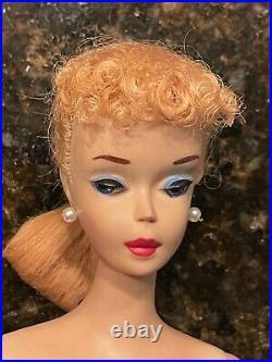#3 Ponytail Barbie Vintage Doll Blonde 1960