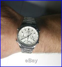 80s Vintage Seiko 7a28 7020 James Bond 007 Chronograph Men's Watch