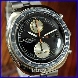 All Original Seiko 6138-0011 Ufo Chronograph Large Automatic Quickset Day Date