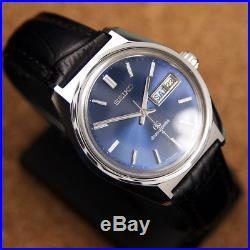Authentic Grand Seiko Day Date Ref. 6146-8000 Blue Dial Automatic Mens Watch