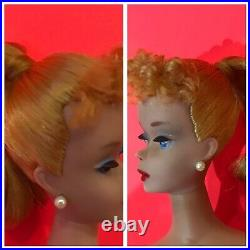 BEAUTIFUL Vintage #4 Blonde BARBIE withBox SS Heels Book Solid Body, MINT 60s