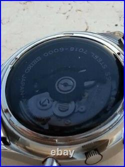 BLACK FRIDAY RARE VINTAGE SEIKO SONAR ZERO 7018-6000 CHRONOGRAPH AUTOMATIC 70s