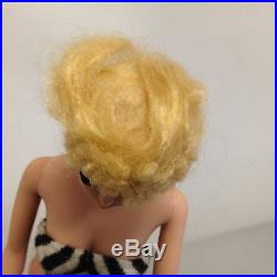 Barbie Doll Blonde Ponytail Straight Legged Arched Eyebrows 1959 Rare Barbie