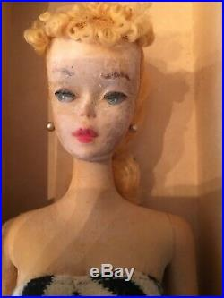 Barbie Vintage Rare 1959 Blonde Ponytail New Never Played With