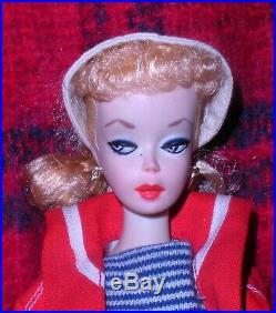 Beautiful Vintage 1959 # 2 Blonde Pink Silhouette Dressed Box Ponytail Barbie TM