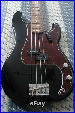Black Fender American Vintage 62 Precision Bass with 62 Fender Japan Jazz Neck