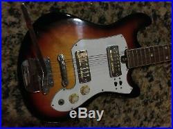 CONQUEROR electric GUITAR. SUN burst. VINTAGE 1960's / 2 GOLD FOIL PKUPS
