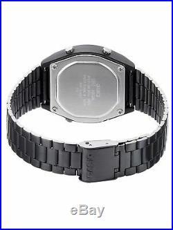 Casio B640WB-1 Retro Illuminator Digital Black Stainless Steel B640WB-1B Watch