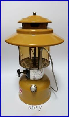 Coleman Lantern Gold Bond 228h oil fuel may1973 Vintage rare camping