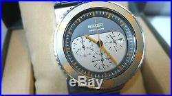 Defect Seiko Spirit Giugiaro design orange Wristwatch SCED023 7t12 Aliens