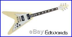 EDWARDS / E-FV-120D Vintage White Flying V type Electric Guitar