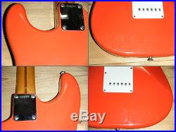 FENDER 1992 USA AMERICA 1957 STRATOCASTER FIESTA RED withHC ship from JAPAN