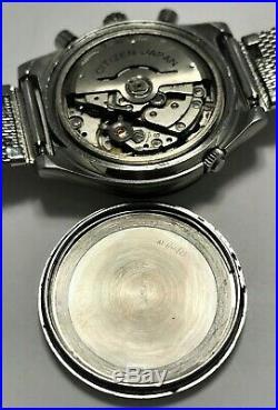 Fantastic Vintage 1970's Citizen 67-9119 Chronograph! Serviced! USA Seller