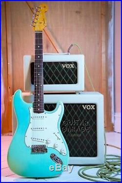 Fender Japan 62 Vintage Reissue Stratocaster Surf Green nitro relic guitar CIJ