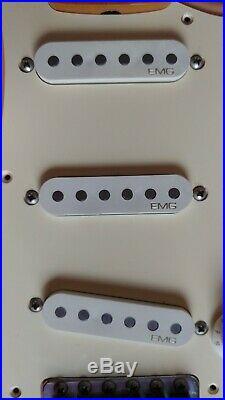 Fender Stratocaster Shell Pink Japan CIJ 54 Reissue maple neck EMG SV Vintage PU