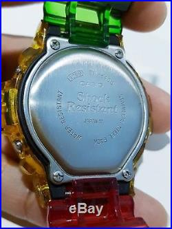 G-Shock Vintage DW-8400 Mudman Rastafarian Jelly Reggae Bob Marley Limited Japan