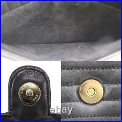 GIVENCHY Logos Shoulder Bag Black Japan Leather Authentic #AC508 O