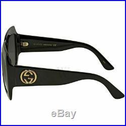 GUCCI GG0053S 001 Square Black Oversize Women Authentic Sunglasses 54mm