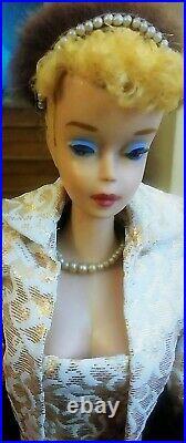 Gorgeous Vintage #4 Blonde Ponytail Barbie! AN INCREDIBLE VINTAGE BEAUTY