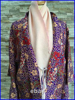 H1 Vintage Silk Japanese Haori Jacket Size M Stunningkimonopurplesale