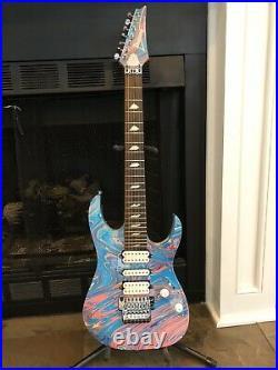 Ibanez Steve Vai Signature 25th Anniversary Universe Guitar Passion. Set up