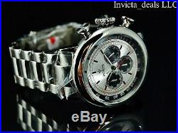 Invicta Men 48mm Vintage Limo Antique Silver Japan Chronograph Silver SS Watch