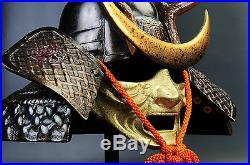 Japanese Vintage Samurai Helmet shikanosuke kabuto with a mask