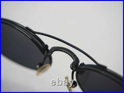Jean Paul Gaultier 56-7107 sunglasses black vintage oval small glasses