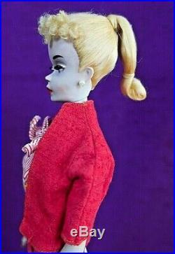 LOVELY #3 1960 Vintage Blonde Ponytail Barbie AO Make-up Pale TM Body Org SS BIN