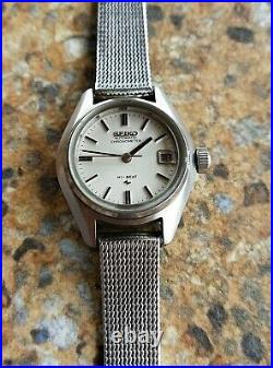 Ladies Seiko Automatic Chronometer Hi-Beat 2245-0020 July 1972 JDM