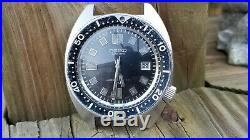 Mens Vintage Seiko 6105-8000 Diver Watch 38mm Just Serviced KEEPS A+ TIME