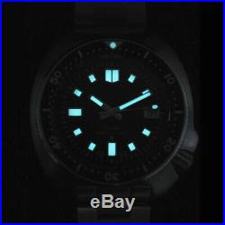 Mens Vintage Sterile Dive 20ATM Automatic Watch Japan NH35A Coating glass Turtle
