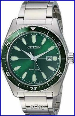 NEW Citizen Eco-Drive AW1598-70X BRYCEN VINTAGE SPORT Men's Green Dial Watch
