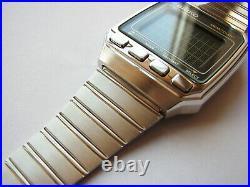 NEW RARE Vintage full stainless steel 1984 NOS SEIKO UW02 LCD wrist computer
