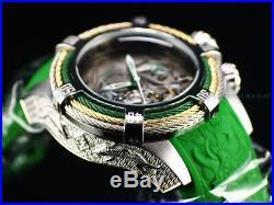 NWT Invicta 54mm Bolt Tri-Cable Dragon and Koi Fish Chrono Green SS 200M Watch