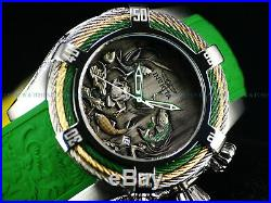 New Invicta 54mm Bolt Tri-Cable Dragon and Koi Fish Stainless Steel 200M Watch