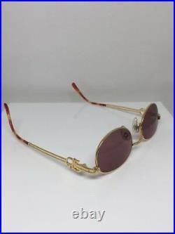 New Vintage Jean Paul Gaultier JPG 57-5101 Sunglasses C. Gold NOS Made In Japan