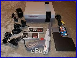 Nintendo NES System Console With Super Mario Bros & Duck Hunt Cleaned 72 Pin