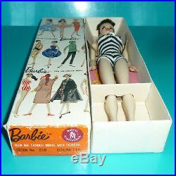 Orig Vintage Rare 1959 Hand-painted Brunette #1 Ponytail Barbie Doll Nmint